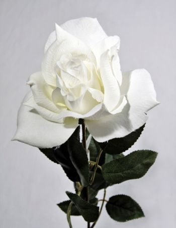 Artificial Silk Large Rose Single Stem