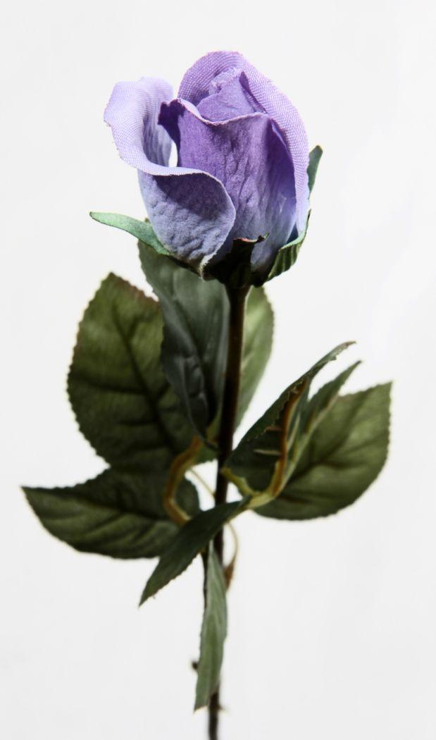 Artificial Silk Rose Closed Bud Single Stem Just Artificial