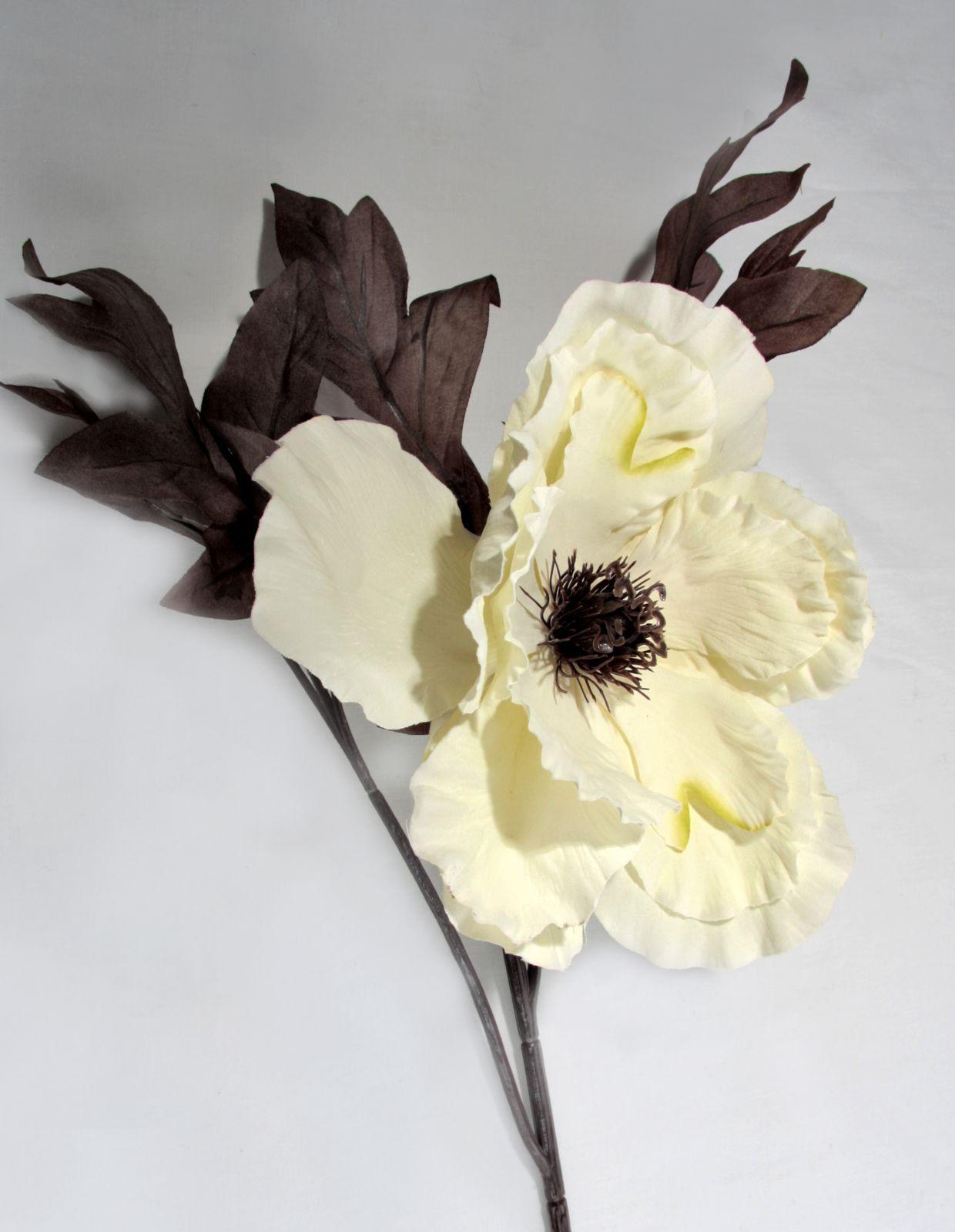 Artificial Large Silk Poppy Single Stem Just Artificial