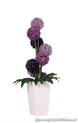 Artificial Silk Allium Flower Arrangement Just Artificial
