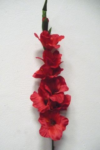 Artificial Silk Gladiolus Single Stem Just Artificial