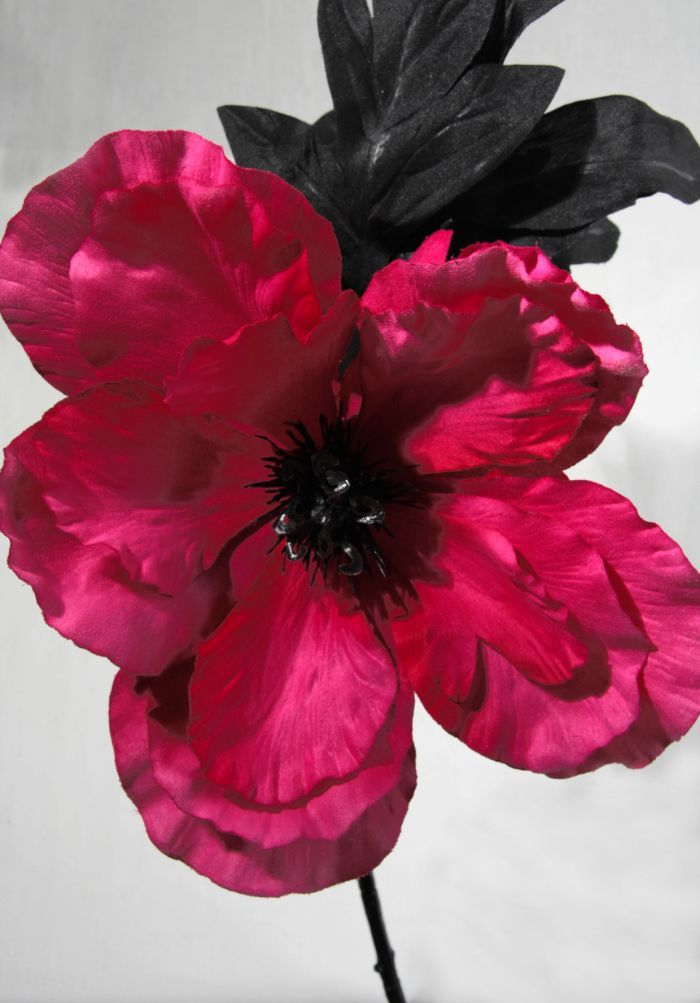 Artificial Large Silk Poppy Single Stem Just Artificial
