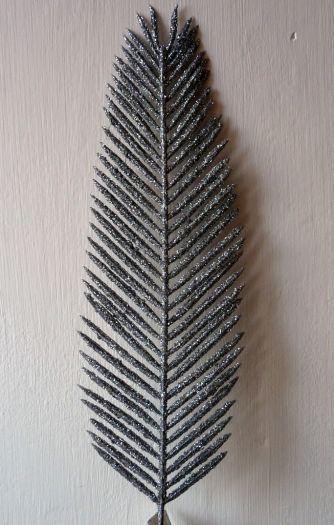 Glittered Leather Fern