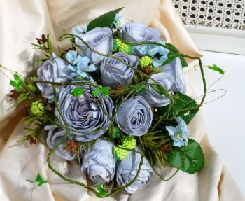 Garden Rose And Vine Cluster Bouquet