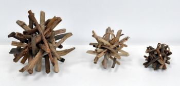 Decorative Wood Spike Ball