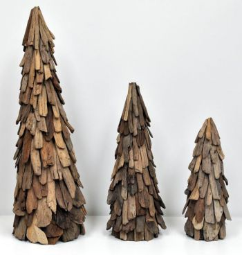 Decorative Wood Cone Tree