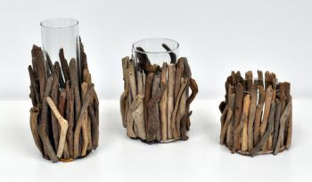 Decorative Wood Candle Holder