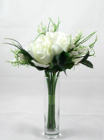 Lily of the Valley and Rose Bouquet