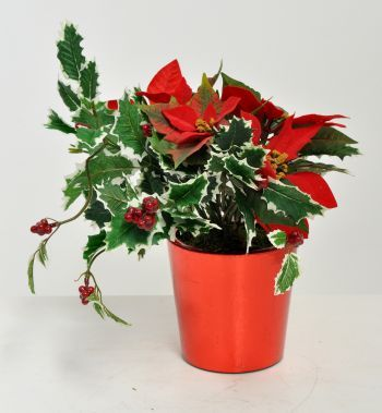 Poinsettia Arrangement, Complete