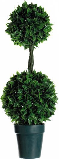 Double Ball Topiary Tree in Pot with LED lights