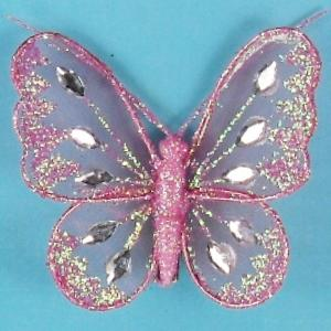 Mesh Glittered Butterflies