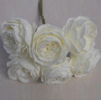 Peony Rose Bud Bunch, 6 Flowers