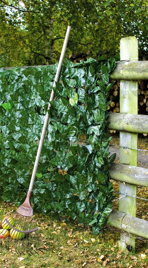 Our Artificial Ivy Hedge Screen installed