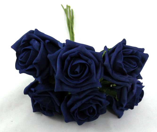 our artificial Cottage Rose Bud Bunch in Navy