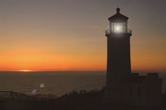 Lighthouse Sunset LED Canvas