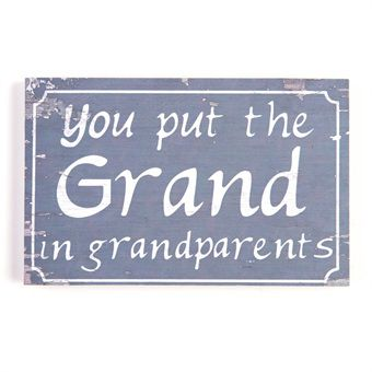 Grandparents Message Plaque