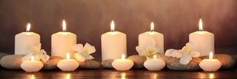 Relaxing Candles LED Canvas
