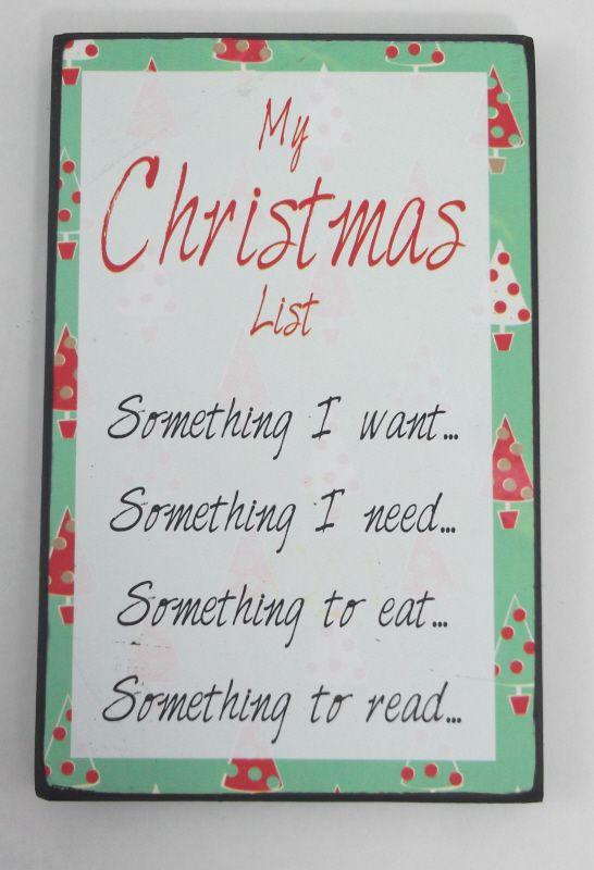Christmas List Plaque