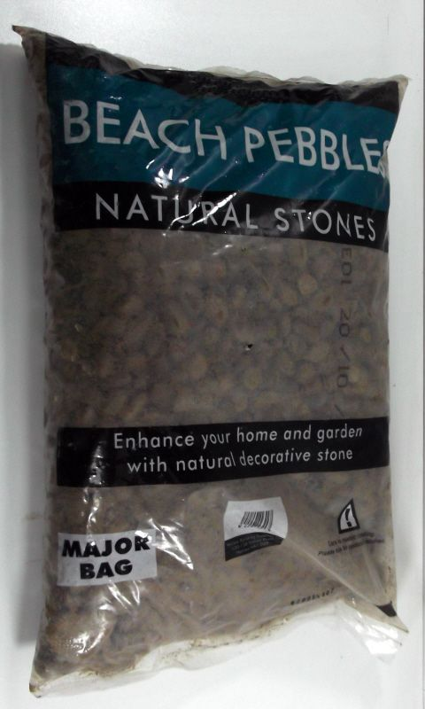 Scottish Beach Pebbles - Shown in bag