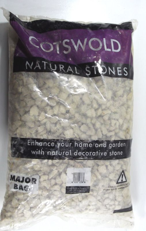 Decorative Cotswold Chippings - Showing in bag