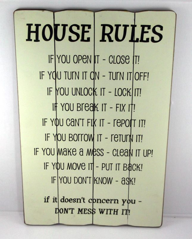 Attractive House Rules Donu0027t Mess With It Message Plaque