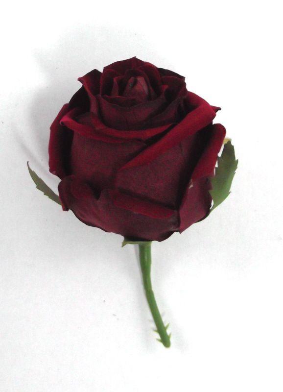 Artificial Velvet Amore Rose Head Large - 8cm Red