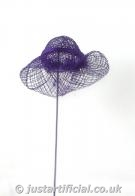 Sinamay Hat on Sticks - Image Caption: Picture of 1 Sinamay Hat on Sticks