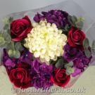 Hydrangea Bouquet - Image Caption: showing overhead view of the Hydrangea Bouquet