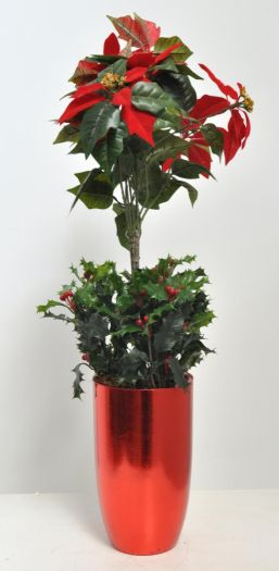 Poinsettia Tree Arrangement, Complete