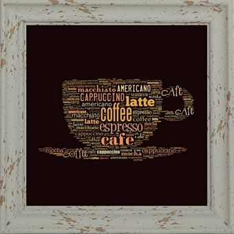 Coffee cup canvas picture