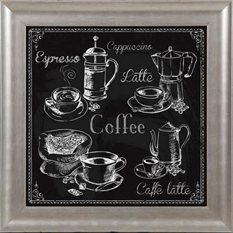 Coffee chalkboard framed
