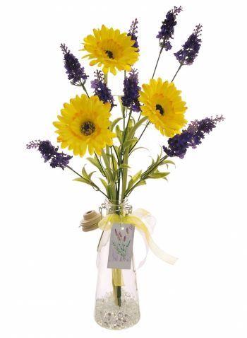 Complete Gerbera & Lavender Arrangement