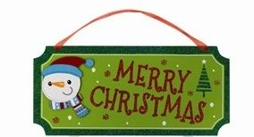Christmas Glitter Plaque