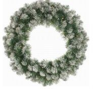 Frosted Emperor Wreath - Prelit