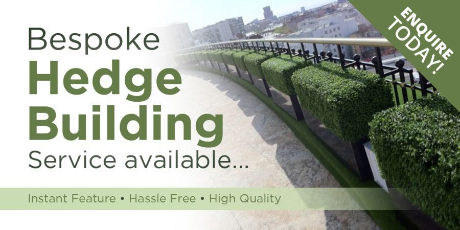 Bespoke hedge building service available. Enquire today!