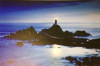 Lighthouse & Blue Sea LED Canvas