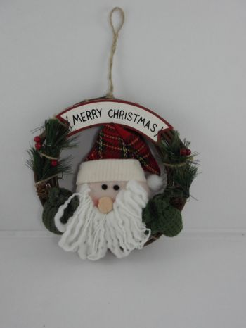 Father Christmas Wicker Wall/Door Wreath