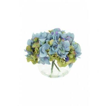 Hydrangeas in Globe Vase