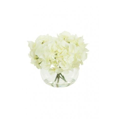 Artificial Silk Hydrangeas In Globe Vase Just Artificial