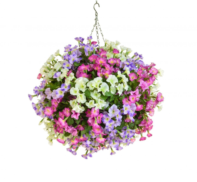 artificial silk petunia ball deluxe hanging basket just. Black Bedroom Furniture Sets. Home Design Ideas