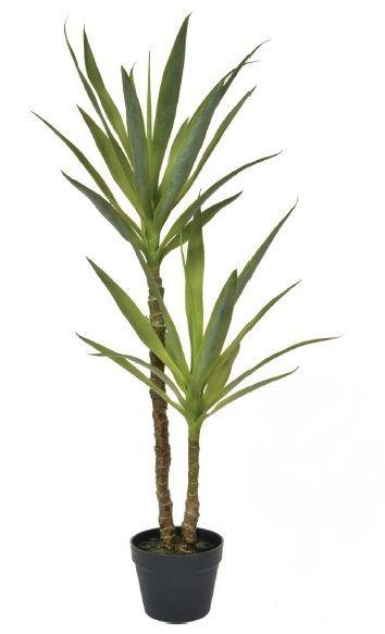 Artificial Silk Yucca Plant In Black Pot Just Artificial