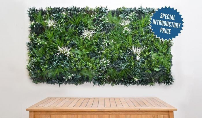Showing two 1m x 1m GreenWall panels side by side as an example