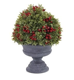 Large Urn Potted Greenery with Berries