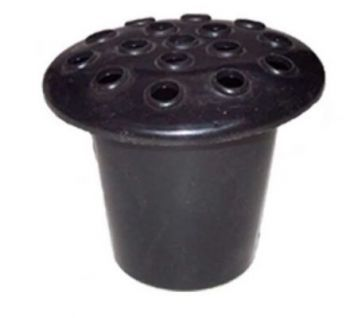 Black Plastic Grave Vase With Lid