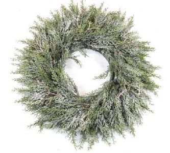 Pine Wreath With Frost
