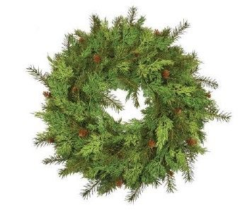 Pine Wreath With Cones
