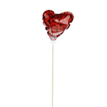 Balloon Rose Heart On Pick