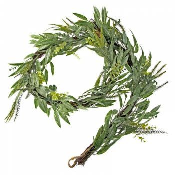 Mixed Foliage Greenery Garland On Twig