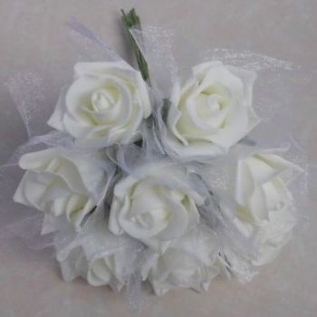 Netted Foam Rose (8 Bunch)