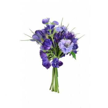 Sweatpea/Cornflower/Crocus Bouquet